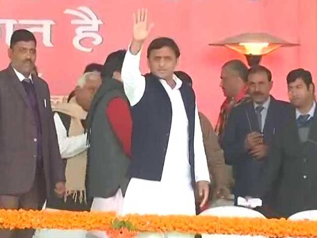 Video : Akhilesh Yadav Stages Coup, Declared Samajwadi Party Chief At Big Meet