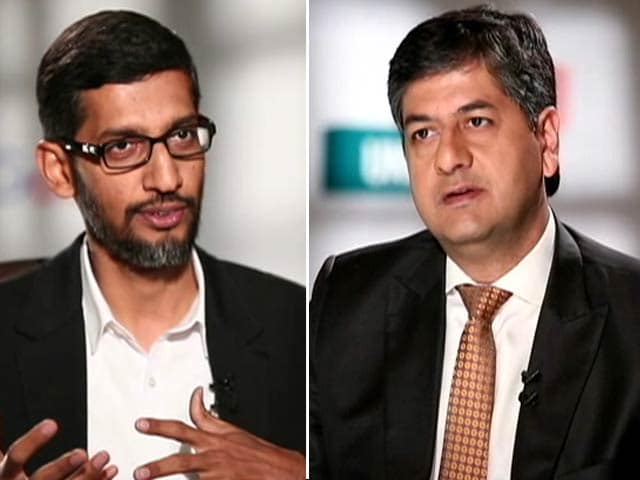 Video : Can Google Help Digital India? Google CEO Sundar Pichai Says 'Working Hard'