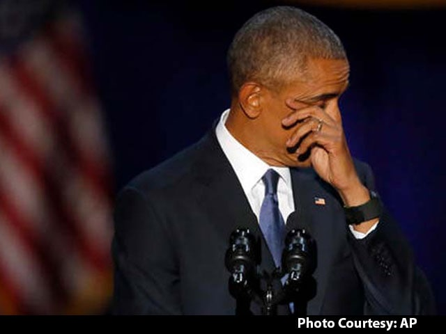 Video : Barack Obama Wipes Tears, Smiles To Chants Of 'Four More Years'