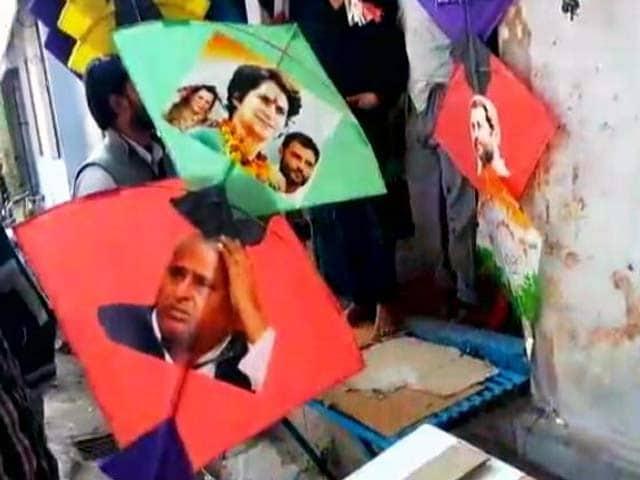 Video : यूपी में नेताओं की तस्वीर वाली पतंगों की मांग...