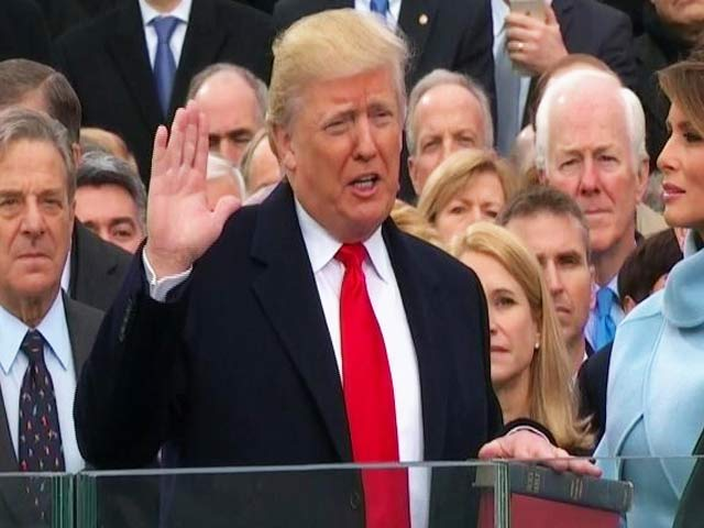 Video : Donald Trump Sworn In With Somewhat Subdued Ceremony
