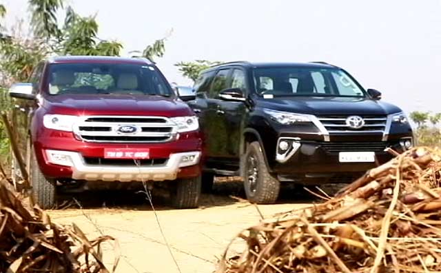 Ford Endeavour vs Toyota Fortuner And Bajaj V12