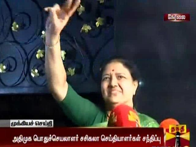 Video : In Late Night Drama, 'Party United' Says VK Sasikala