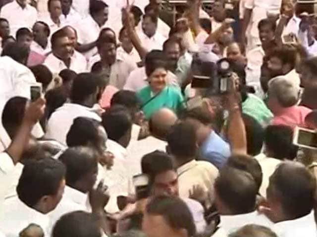Video : Delay In Swearing-In Intended To Split Party, Says VK Sasikala