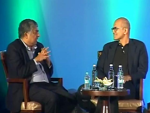 Video : Aadhaar Scale-Up Commendable: Satya Nadella
