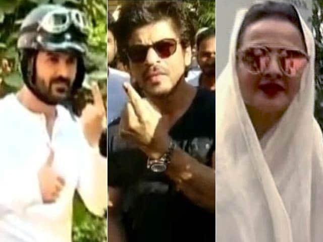 Video : बीएमसी चुनाव में पोलिंग बूथ पर बॉलीवुड!