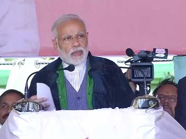 Video : Congress Ruined Manipur, Says PM Modi At Imphal Rally