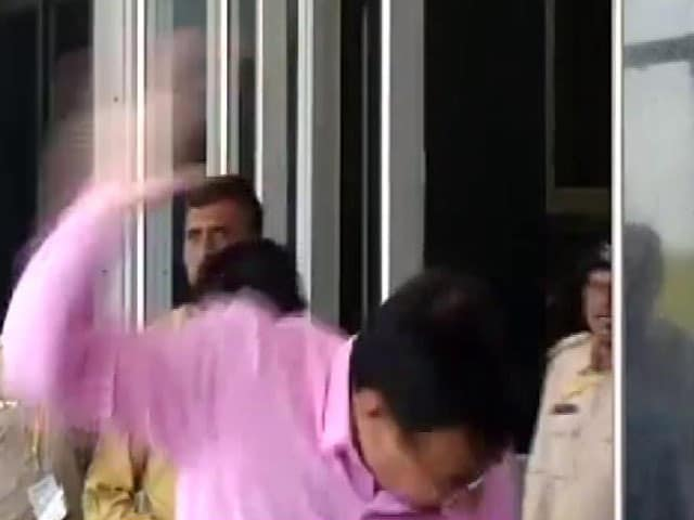 Video : Prohibition In Mind, Man Hurls Shoe. This One At Gujarat Minister