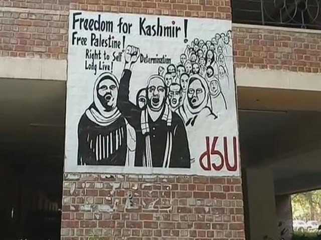 Video : जेएनयू में एक बार फिर पोस्टर विवाद