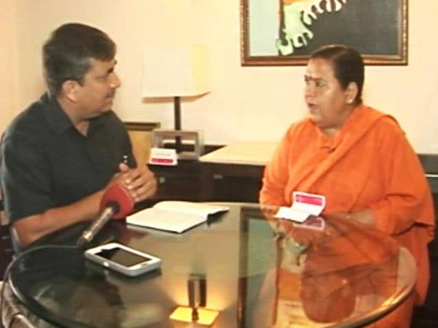 Video : 'Either Rahul Gandhi Can Jump Into The Ganga Or I Will:' Uma Bharti's Riposte