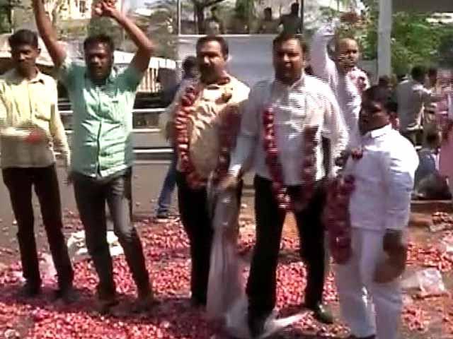 Video : महाराष्ट्र: नासिक में प्याज की गिरती कीमतों पर प्रदर्शन