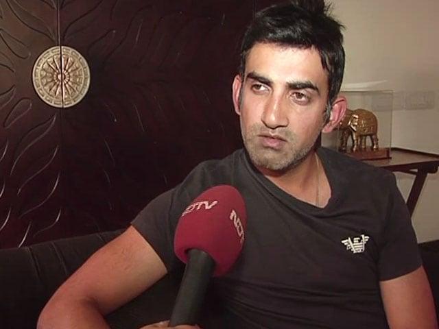 Video : I Fought For Young Players: Gautam Gambhir