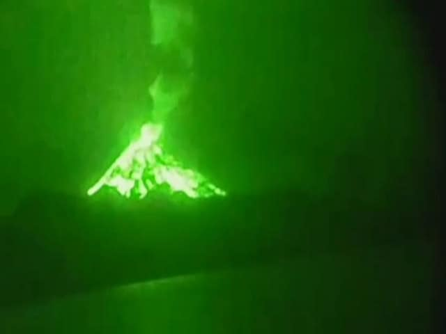 Video : Watch: India's Only Active Volcano, At Barren Island, Filmed Erupting
