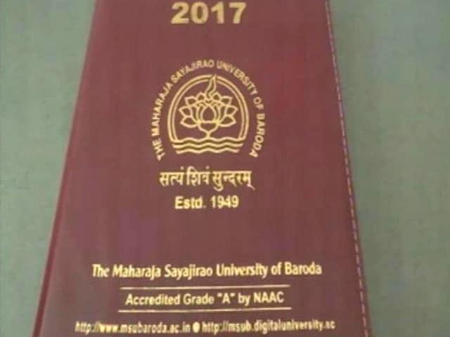 Video : Row Over Official Diary At Vadodara's Prestigious MS University
