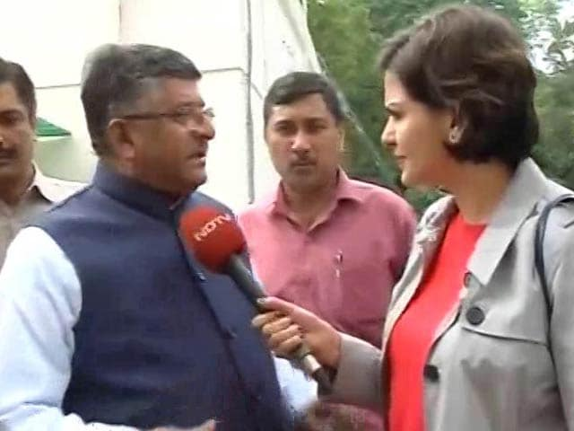 Video : I Could See A Surge, It Is Becoming A Tsunami, said Ravi Shankar Prasad on UP Election Results