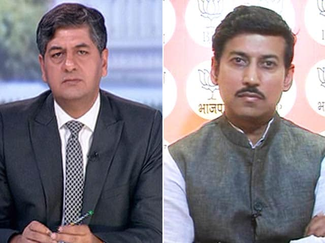 Video : 'Acche Din' Is Not A Destination, It's A Journey: Rajyavardhan Singh Rathore