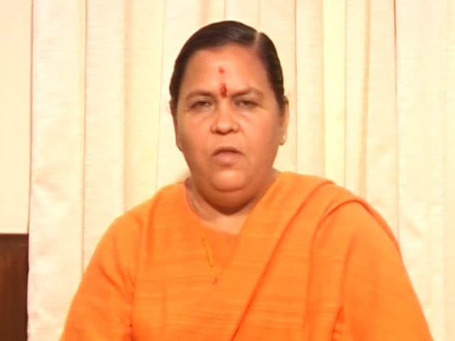 Video : Akhilesh Yadav Took The Issue Of Ganga Clean-up Lightly: Uma Bharti