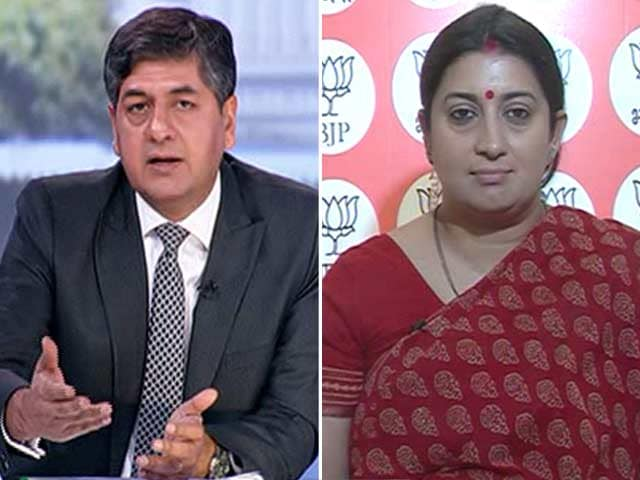 Video : UP Muslims Have Voted On The Issues Of Development: Smriti Irani