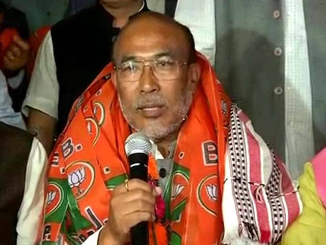 Video : BJP Names N Biren Singh As Chief Minister-Designate Of Manipur
