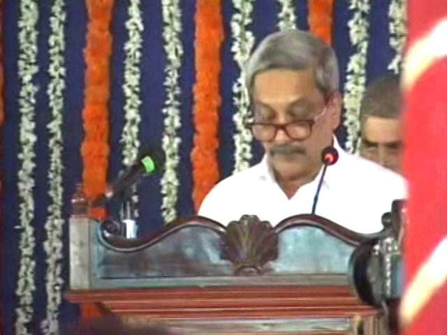 Video : Manohar Parrikar Takes Charge Of Goa, Trust Vote Thursday, Says Top Court
