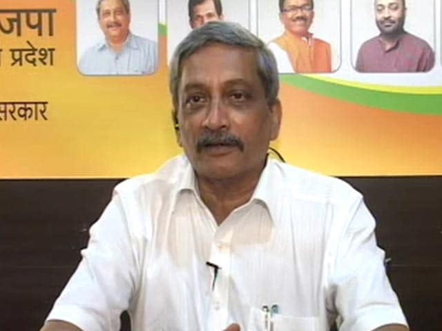 Video : Manohar Parrikar To NDTV: Congress Didn't Have Numbers, We Did