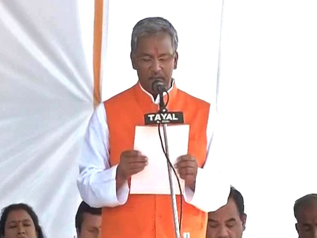 Video : Trivendra Rawat Takes Charge As Uttarakhand Chief Minister
