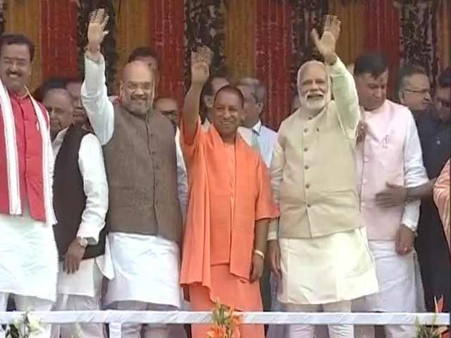 Video : Yogi Adityanath Takes Charge As Chief Minister Of Uttar Pradesh