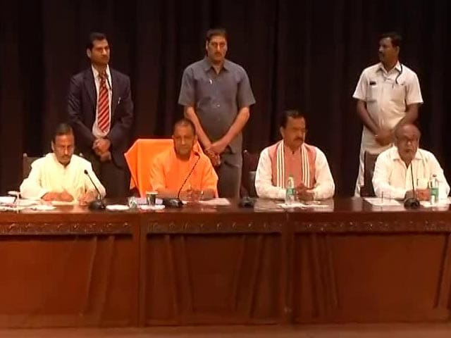 Video : On Day 1, Yogi Adityanath Sets Tough Targets For Officials, Cops