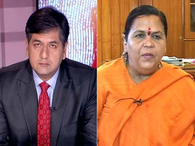 Video : Only Ram Temple Can Exist At Ayodhya: Uma Bharti To NDTV