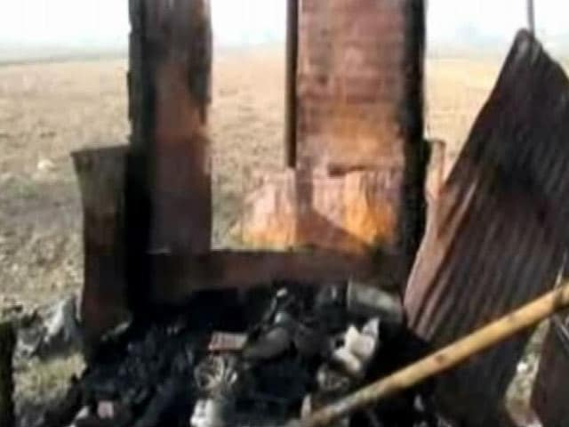 Video : Meat Shops Set On Fire In UP's Hathras By 'Anti-Social Elements': Police