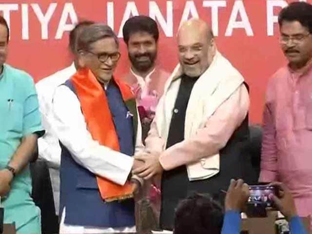 Video : SM Krishna, Who Said Congress Didn't Need Him, Joins BJP