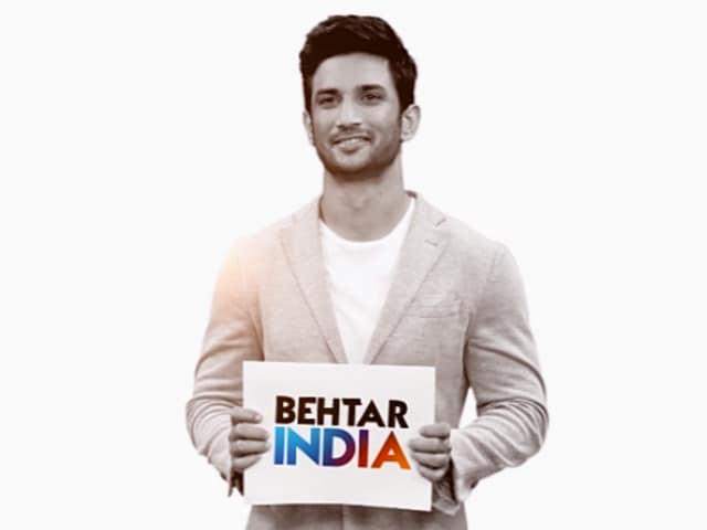 Video : Sushant Singh Rajput Urges Everyone To Take A Step Towards Behtar India