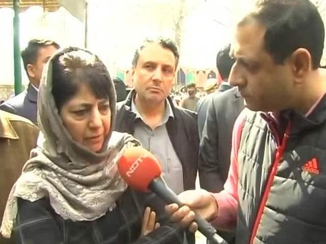 Video : As 3 Die In Police Action In Kashmir, Mehbooba Mufti's Appeal To Parents