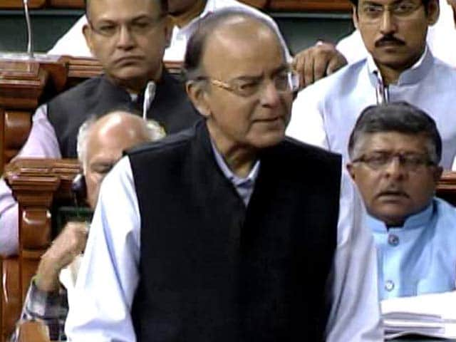 Finance Minister Arun Jaitley Opens GST Debate In Parliament