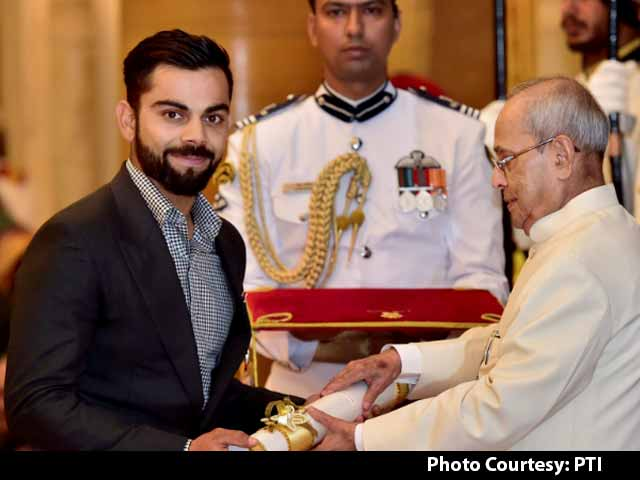 Video : Virat Kohli Receives Padma Shri At Rashtrapati Bhavan