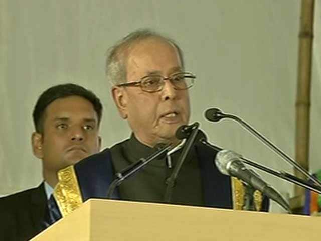 Video : Be Argumentative, Not Intolerant: President Pranab Mukherjee