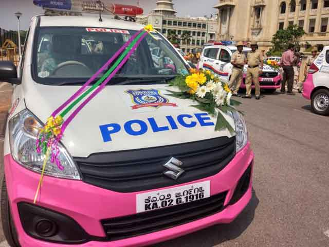 Video : Bengaluru Police Goes Pink With New Panic App, Patrol Vehicles