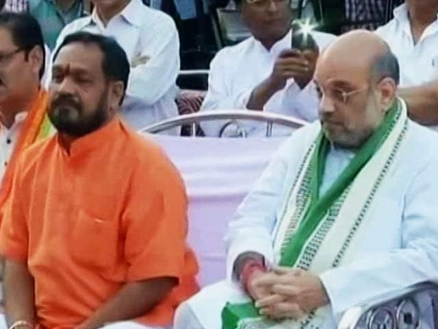 Video : 2 Garlands For Amit Shah In Odisha Make BJP Intent Clear: Let's Win This