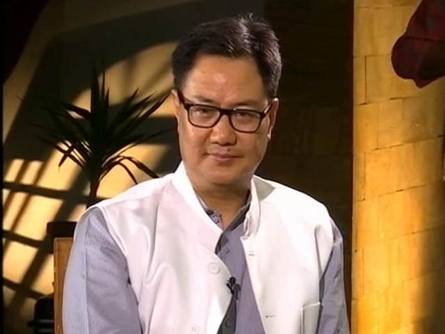Video : Junior Home Minister Kiran Rijiju On Making India Secure