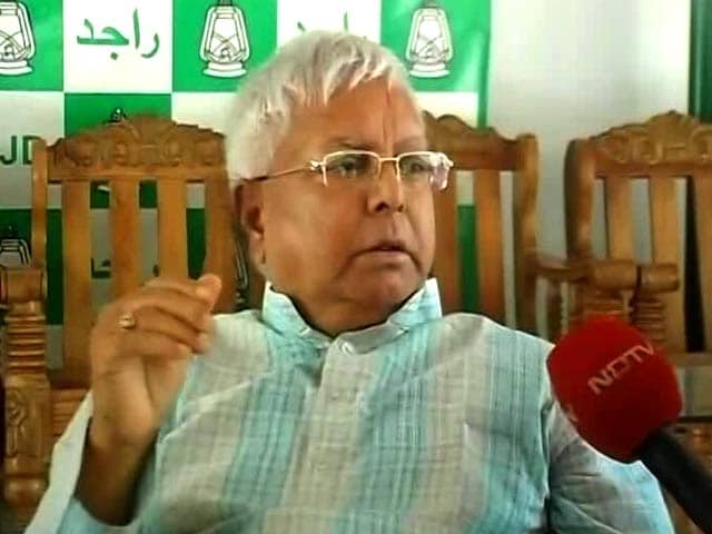 Video : Corruption Charges Against Me On BJP Orders, Says Lalu Yadav