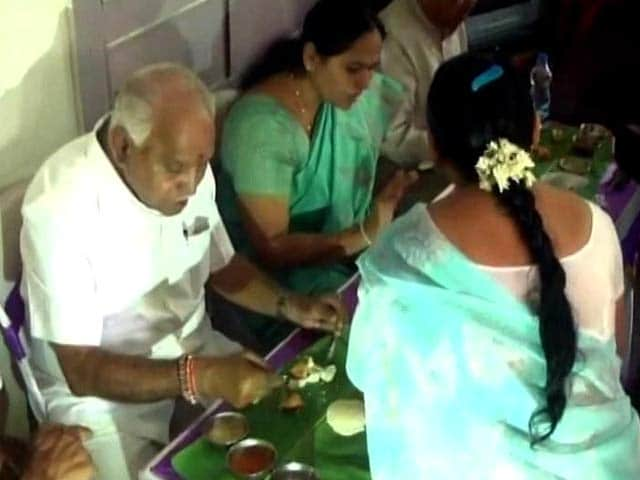 Video : After BS Yeddyurappa Eats Hotel Food At Dalit Home, BJP Explains Why
