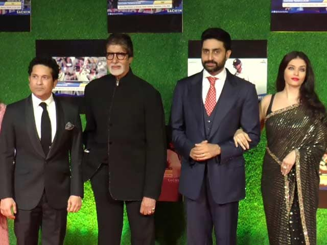 Video : Bollywood Stars At <i>Sachin</i> Movie Premiere