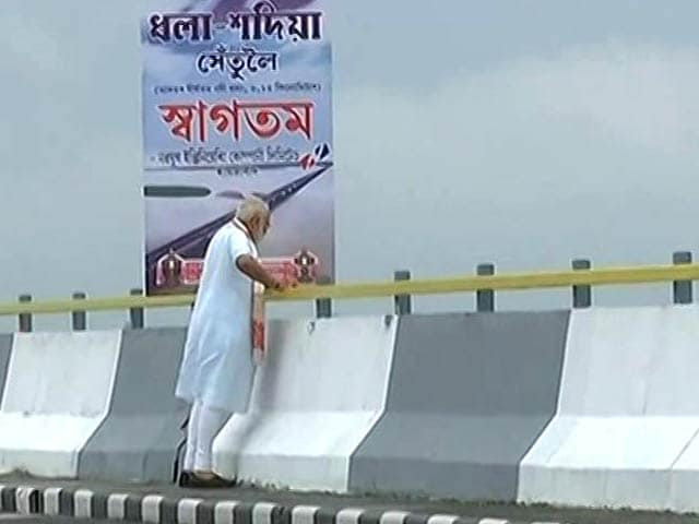 Video : PM Opens India's Longest Bridge In Assam As Government Turns 3