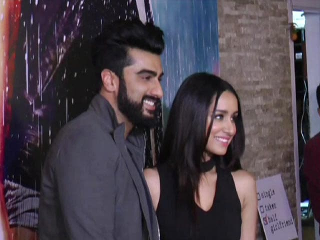 Shraddha, Arjun And KJo at Half Girlfriend's Success Party