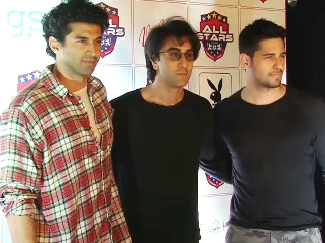 Ranbir, Sidharth & Aditya At A Charity Football Initiative