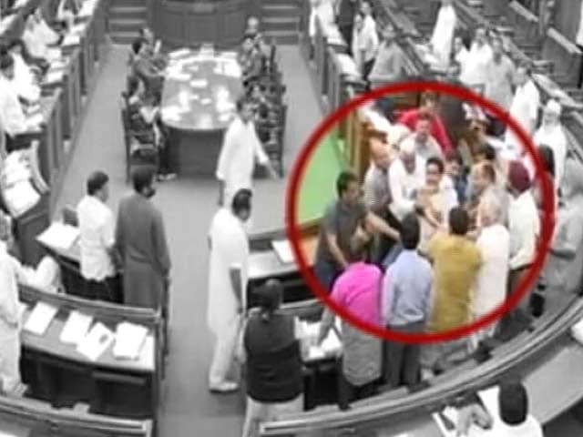 Video : Punched In Chest By AAP Leaders In Delhi Assembly, Alleges Kapil Mishra
