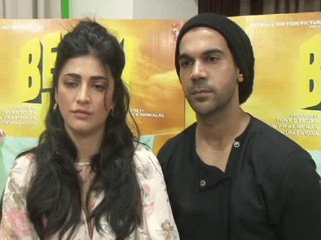 Video : Shruti Haasan and Rajkummar Rao On <i>Behen Hogi Teri</i>