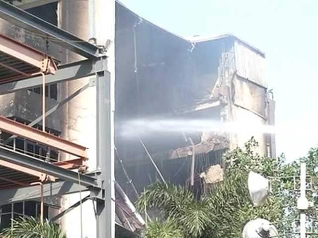 Video : Day 2 Of Chennai Fire, Smoke Soars, Zero Visibility For Upto 2 Km
