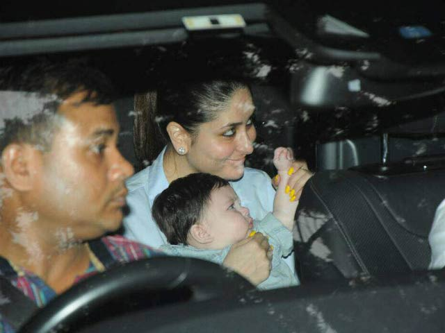 Video : Kareena And Taimur At Tusshar's Son's First Birthday