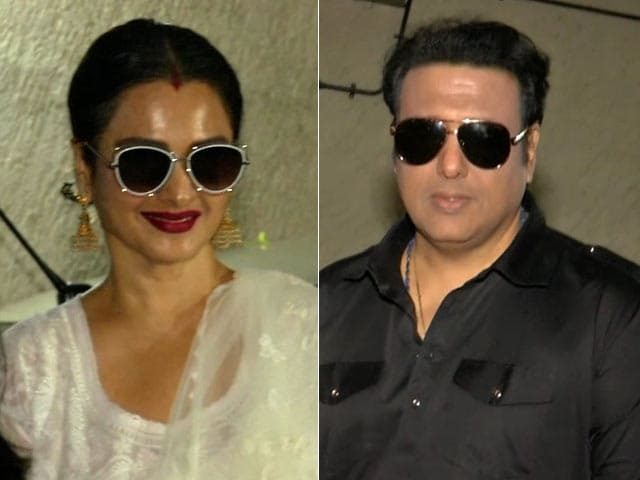 Rekha And Govinda Spotted At Manisha Koirala's Dear Maya Screening